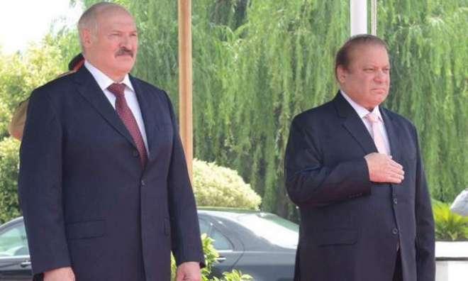 اسلام آباد : بیلا روس کے وزیر اعظم کی پاکستان آمد ، وزیر اعظم نواز شریف ..