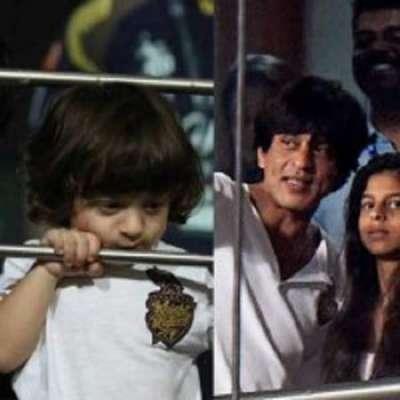 """فلم """"دل والے"""" کی شوٹنگ میں شاہ رخ کا چھوٹے بیٹا توجہ کا مرکز بنا رہا"""