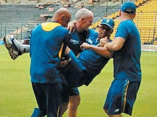 پروٹیز فاسٹ باولر فلینڈر فٹ بال کھیلتے ہوئے زخمی ہوکر بھارت کیخلاف ..