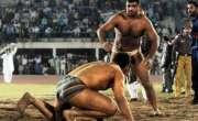 بھارت سے سا ؤ تھ ایشین گیمزمیں ریسلنگ کے مقا بلوں میں گو لڈ میڈل حا صل ..