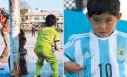 لیونل میسی سے متاثر شعیب ملک اپنا 'امیر' شائق بچے سامنے لے آئے