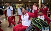 چینی اولمپکس کھلاڑیوں کا دستہ وطن واپس پہنچ گیا ،بیجنگ کے ہوائی اڈے ..