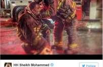 دبئی کے امیر شیخ راشد المخدوم کی جانب سے گزشتہ رات اڈریس ہوٹل میں لگنے ..