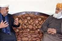 مولانا فضل الرحمان سے سپیکر خیبرپختونخوا اسمبلی اسد قیصر کی ملاقات ..