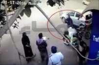 کراچی میں شہری اور پولیس اہلکاروں کی لڑائی کا ڈراپ سین، سی سی ٹی فوٹیج ..