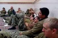 ایران نے سمندری حدود کیخلاف ورزی کرنیوالے امریکی فوجیوں کو کو رہا کر ..