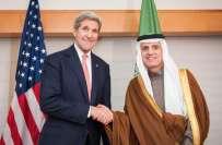 امریکی وزیر خارجہ جان کیری سے سعودی ہم منصب عادل الجبیر کی واشنگٹن ..