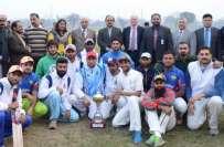 انٹر کالجیٹ کرکٹ ٹورنامنٹ پنجاب یونیورسٹی ٹیچنگ ڈیپارٹمنٹ نے جیت لیا