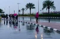متحدہ عرب امارات کی ریاست فجیرہ میں موسلادھار بارش اور ژالہ باری