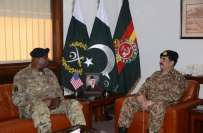 آرمی چیف سے امریکی سنٹرل کمانڈ کے سربراہ جنرل آسٹن کی الوادعی ملاقات، ..
