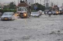بدھ کے روز کراچی میں ہلکی جبکہ سکھر اور لاڑکانہ میں موسلادھار بارش ..