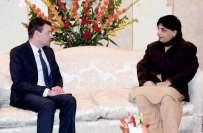 وزیرداخلہ چوہدری نثارسے امریکی سفیر ڈیوڈ ہیل کی ملاقات، دوطرفہ تعلقات، ..