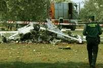 سپین کے دارلحکومت میڈرڈ کے قریب چھوٹا طیارہ گر کر تباہ ٗ تین افراد مارے ..