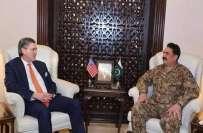 آرمی چیف جنرل راحیل شریف سے امریکی خصوصی نمائندے رچرڈ جی اولسن کی ملاقات