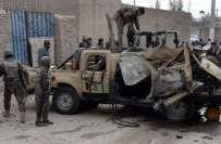 افغانستان،خودکش بمبار نے نئے بھرتی ہونے والے بارہ فوجیوں کی بس اڑدی،12اہلکار ..