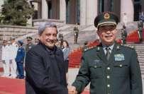 چینی وزیر دفاع چینگ وان چوانگ کی اپنے بھارتی ہم منصب منوہر پاریکر سے ..