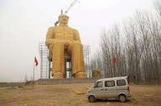 چینی حکام نے اجازت نہ لینے پر  چیئرمین ماؤ کا سونے سے بنا مجسمہ گرا دیا