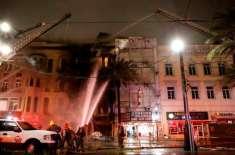 بے گھر شخص نے سردی سے بچنے کے لیے عمارت کو آگ لگا دی
