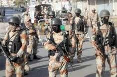 رینجرزکی شہر کے مختلف علاقوں میں کارروائی' 11 ملزمان گرفتار