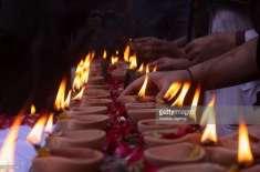 کراچی کے نیشنل اسٹیڈیم میں 23 ہزار چراغ جلا کر بھارت کا عالمی ریکارڈ ..