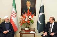 وزیراعظم محمد نواز شریف اور ایرانی صدر حسن روحانی کے درمیان ملاقات،دونوں ..