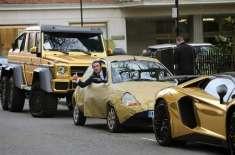 سعودی   شہزادے  کی گولڈ پلیٹڈ گاڑیوں کا  مقابلہ لندن کے نوجوان نے صرف ..