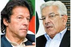 خواجہ آصف کاعمران خان سے سیلاب متاثرین کے لیے جمع کئے گئے 4عطیات کے ..