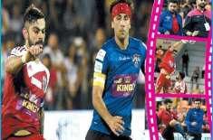نمائشی فٹبال میچ میں دھونی، کوہلی اور یوراج بھارتی فلمی ستاروں کے مقابل ..