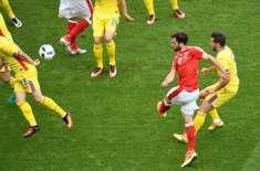 یورو کپ، گروپ اے کے سلسلے میں سوئزرلینڈ اور رومانیہ کے درمیان کھیلا ..