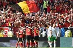 یوروکپ، بیلجیئم  نے آئرلینڈ کو 0-3 سے ہرا دیا