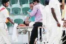 بھارتی اسپنر پراگیان اوجھا سر پر گیند لگنے سے زخمی