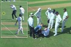 ممبئی ٹیسٹ ، آسٹریلیوی امپائر پال رائفل گیند لگنے سے زخمی ہوگئے