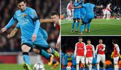یورپی چیمپیئنز لیگ: میسی کے دو گول، بارسلونا کی آرسنل پر فتح