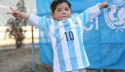 شہرہ آفاق فٹبالر لیونل میسی کا مداح افغان بچہ پاکستان پہنچ گیا