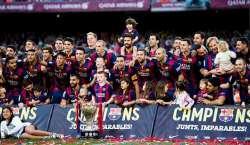 بارسلونا کی ٹیم 24 ویں مرتبہ اسپینش فٹ بال چیمپین بن گئی