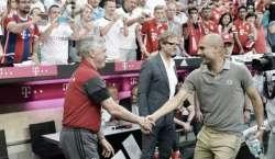 بائرن میونخ نے انگلش فٹبال کلب مانچسٹر سٹی کو دوستانہ میچ میں 1-0 سے ..