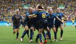جرمنی ، سویڈن کے درمیان ریو اولمپکس ویمنزفٹ بال ایونٹ کا فائنل کل  کھیلا ..