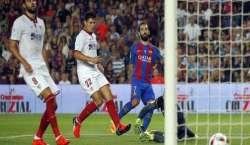 بارسلونا نے فٹبال میچ میں سیویلا کو3-0 سے ہرا دیا