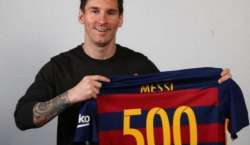 سٹار فٹبالر لیونل میسی نے بارسلونا کیلئے 592ویں میچ میں 500 گولز مکمل ..