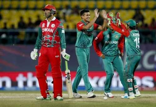 ورلڈ ٹونٹی : بنگلہ دیش نے عمان ..