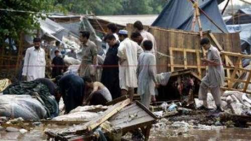 پشاور میں بارش سے تباہ کاریاں ..