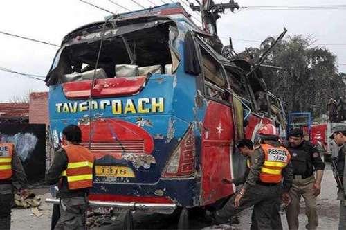 پشاور دھماکے میں بس ڈرائیور ..