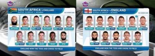 ورلڈ ٹی 20:انگلینڈ کا ٹاس جیت ..