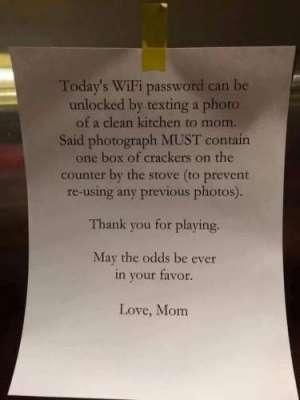 ماں  بچوں کو وائی فائی کا پاس ..