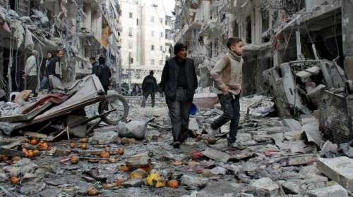 شام میں پانچ سال سے جاری تباہ ..