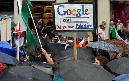 گوگل میپ سے فلسطین غائب، گوگل ..