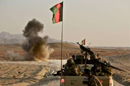 افغان صوبے ہلمند میں گھمسان ..