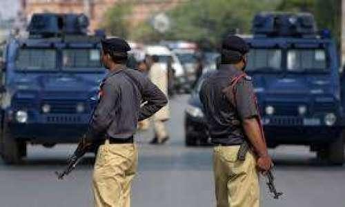 کراچی پولیس کی مختلف علاقوں ..
