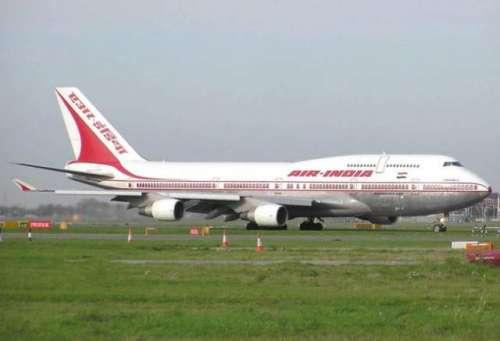 ائیر انڈیا کی پرواز میں دئے گئے ..