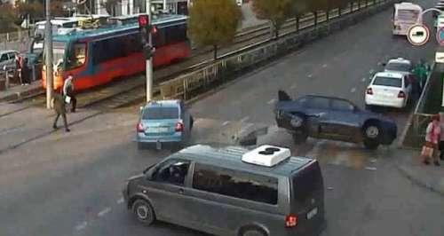 ناگا ساکی میں ٹریفک کے حادثہ ..